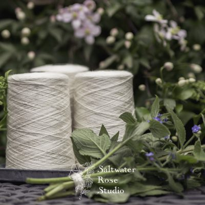 Mulberry silk and nettle blend yarn