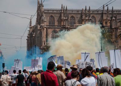 Street Protest, Seville