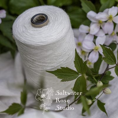 Spun silk / nettle 15/2nm - Saltwater Rose Studio